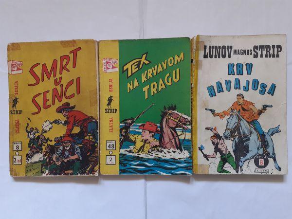 #Lot od 3 prastara stripa ZS Teks od 1 kune!